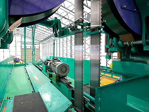 坂詰製材所の工場の様子