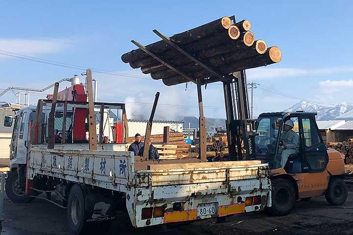 森林・木材産業活性化事業の様子
